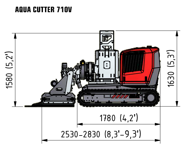 Aqua cutter 710 aquajet systems hydrodemolition robot